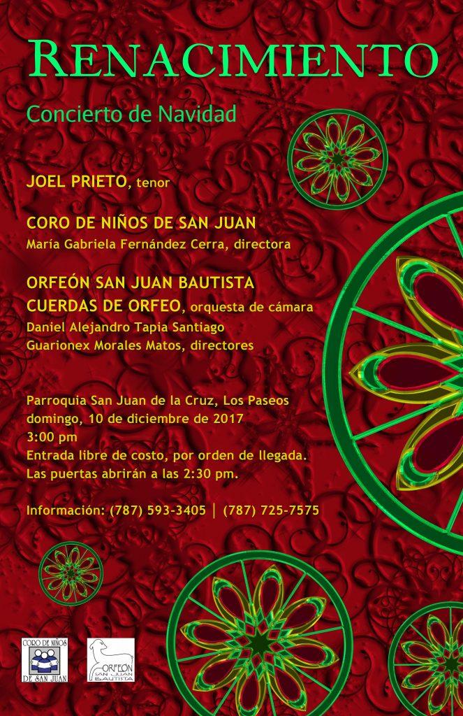 AFICHE concierto de Navidad RENACIMIENTO